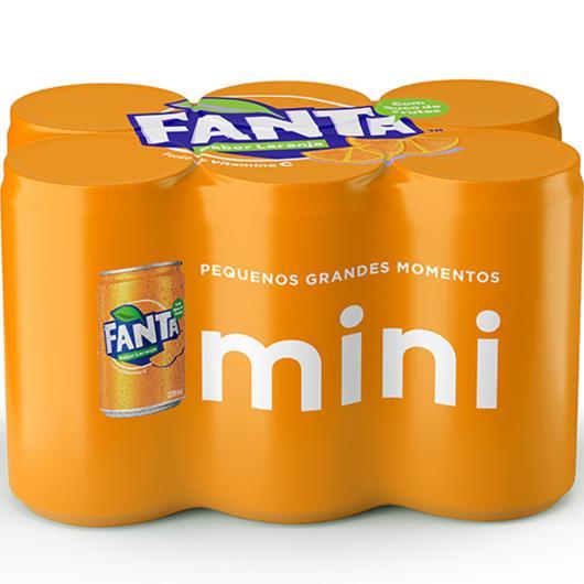 Refrigerante Fanta Laranja 6 unidades - 220ml cada - Imagem em destaque
