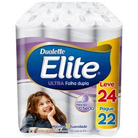 Papel higiênico Elite Dualette Leve 24 Pague 22