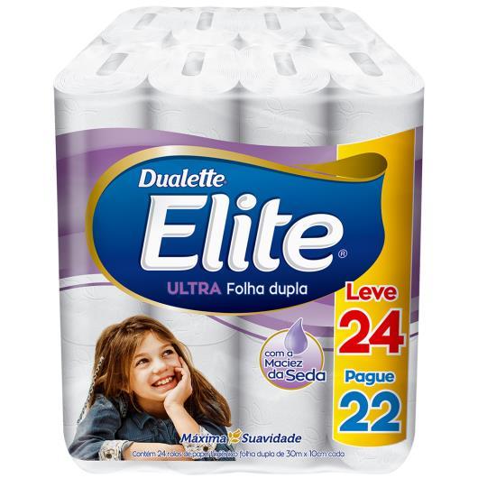 Papel higiênico Elite Dualette Leve 24 Pague 22 - Imagem em destaque