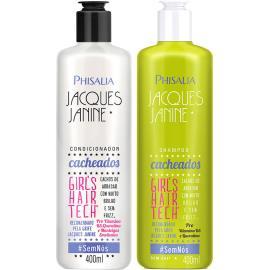 Shampoo 400ml + Condicionador 400ml cacheados Sou Linda Phisalia