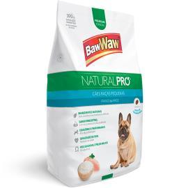 Alimento para Cães raças pequenas frango e arroz Natural Pró Baw Waw 1kg