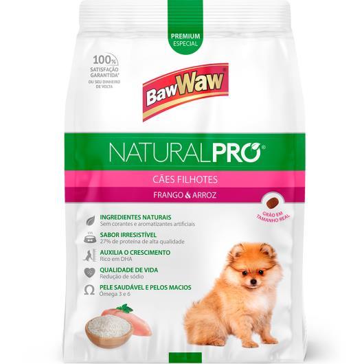 Alimento para Cães filhotes frango e arroz Natural Pró Baw Waw 6kg - Imagem em destaque