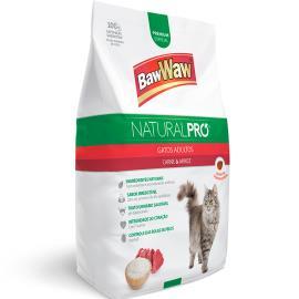 Alimento para Gatos adulto carne e arroz Natural Pró Baw Waw 1kg