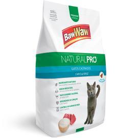Alimento para Gatos castrados carne e arroz Natural Pró Baw Waw 1kg
