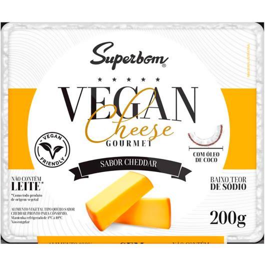 Alimento Vegetal gourmet cheddar Vegan Cheese Superbom 200g - Imagem em destaque