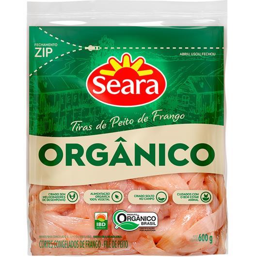 Tiras de Peito de Frango orgânico congelado Seara 600g - Imagem em destaque