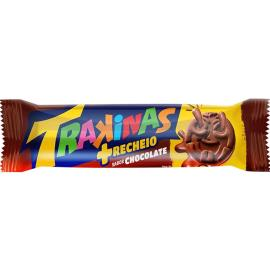 Biscoito recheado Trakinas Mais Recheio chocolate 126g