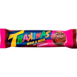 Biscoito recheado Trakinas meio a meio Chocolate e Morango 126g