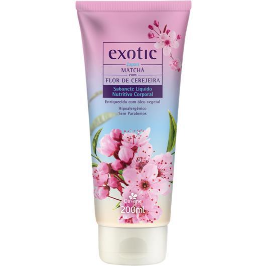 Sabonete líquido matchá com flor de cerejeira Exotic Davene 200ml - Imagem em destaque