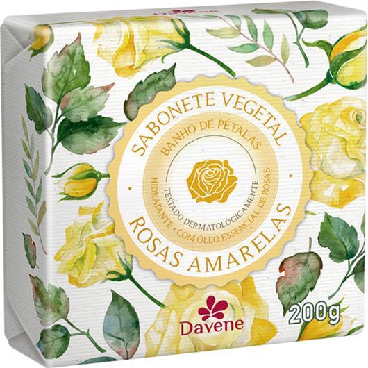 Sabonete barra vegetal rosas amarelas Davene 200g - Imagem em destaque