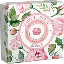 Sabonete barra vegetal rosas Davene 200g