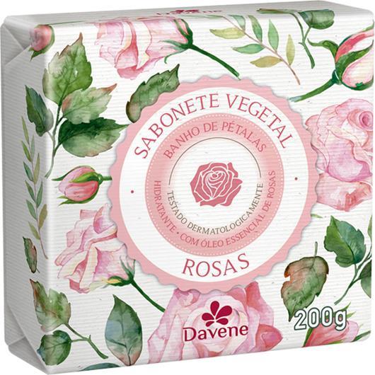 Sabonete barra vegetal rosas Davene 200g - Imagem em destaque
