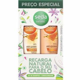 Shampoo + Condicionador mel anti quebra preço especial Seda 650ml