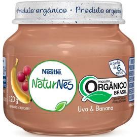 Papinha uva e banana orgânica NaturNes Nestlé 120g