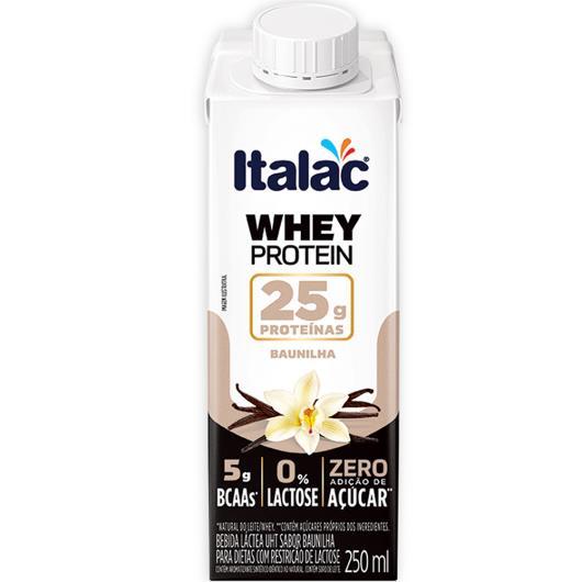 Bebida Láctea whey protein baunilha Italac 250ml - Imagem em destaque