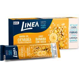 Barra de Cereal integral banana com aveia Linea 60g