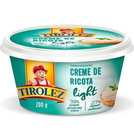 Creme de Ricota light Tirolez 200g