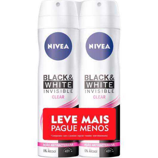2 Desodorantes invisible black & white Nivea aerossol Leve Mais Pague menos 300ml - Imagem em destaque