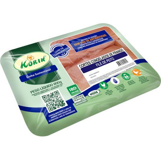 Filé Peito de Frango congelado Korin 600g - Imagem em destaque