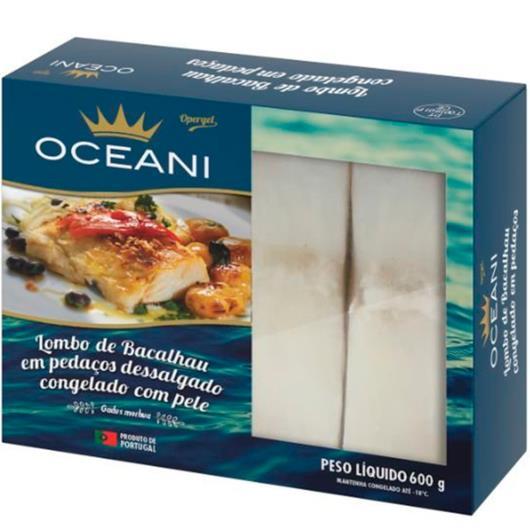 Lombo Bacalhau dessalgado congelado Oceani 600g - Imagem em destaque