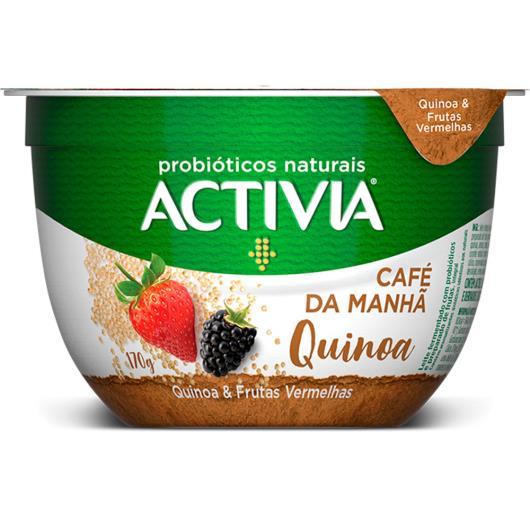 Leite fermentado café da manhã quinoa e frutas vermelhas Activia 170g - Imagem em destaque
