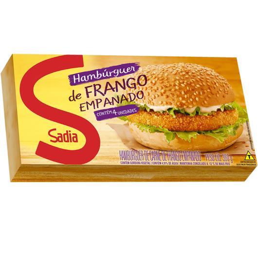 Hambúrguer de frango empanado Sadia 360g - Imagem em destaque