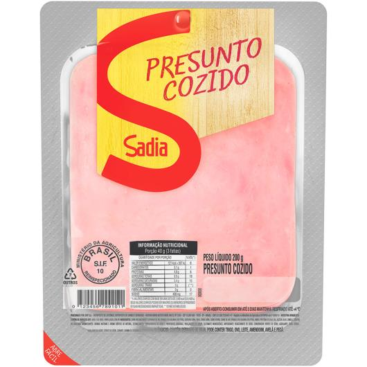 Presunto fatiado cozido Sadia 200g - Imagem em destaque