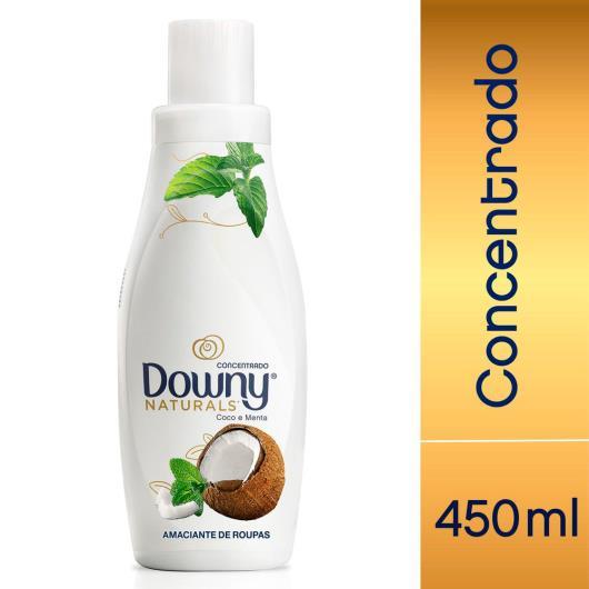 Amaciante concentrado coco e menta Naturals Downy 450ml - Imagem em destaque