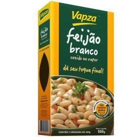 Feijão Vapza branco cozido a vapor 500g