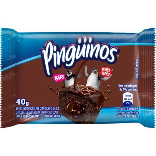 Bolo de Chocolate com recheio de chocolate Pinguinos 40g - Imagem em destaque
