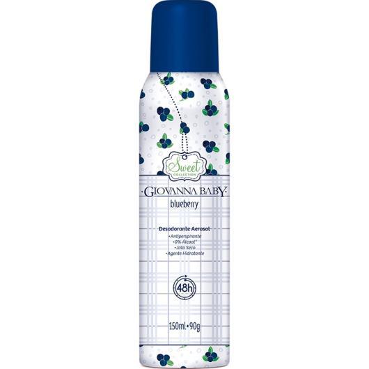 Desodorante aerosol Blueberry Giovanna Baby 150ml - Imagem em destaque
