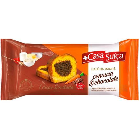 Bolo de cenoura com chocolate e calda Casa Suíça 300g - Imagem em destaque