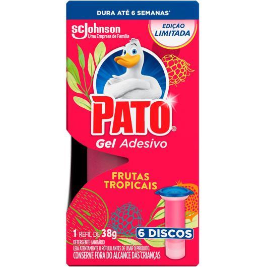Detergente sanitário gel adesivo frutas tropicais Pato 38g - Imagem em destaque
