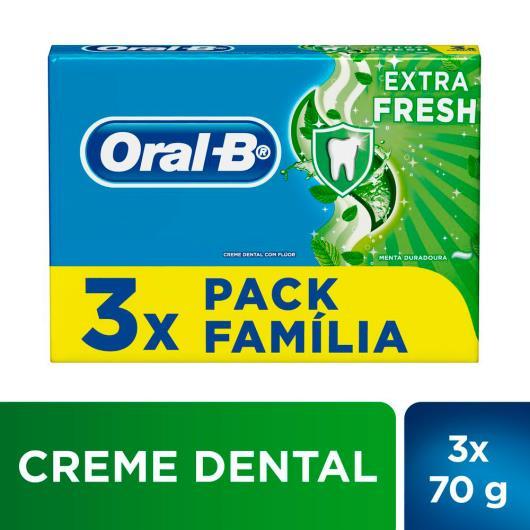 3 Creme dental extra fresh família Oral-B 210g - Imagem em destaque