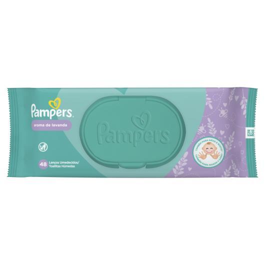 Lenço umedecido lavanda Pampers 48 unidades - Imagem em destaque