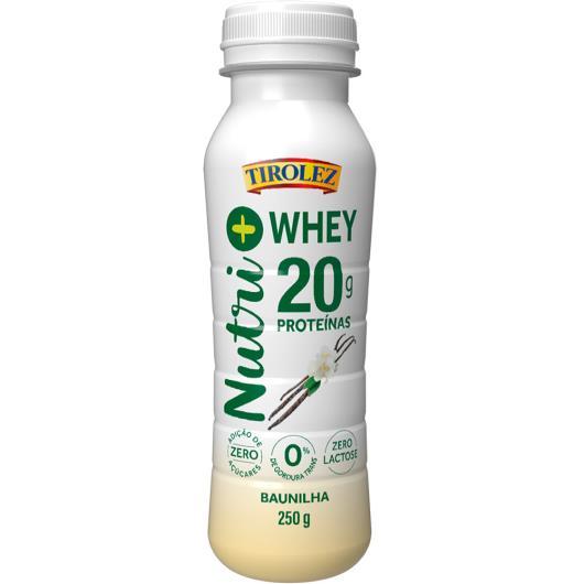 Iogurte de baunilha Nutri+ Whey Tirolez 250g - Imagem em destaque