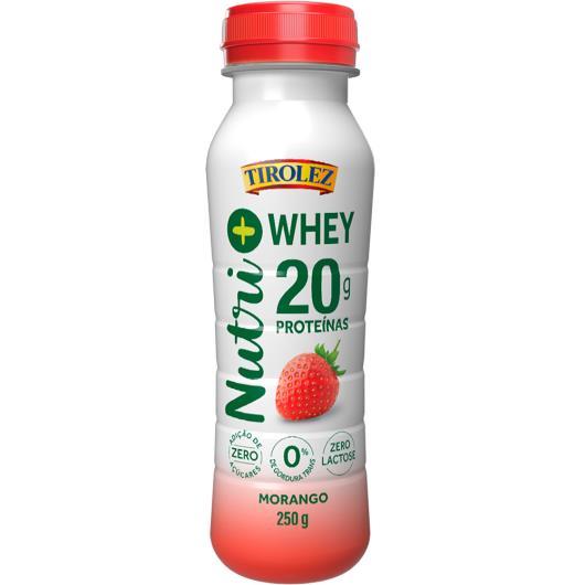 Iogurte de morango Nutri+ Whey Tirolez 250g - Imagem em destaque