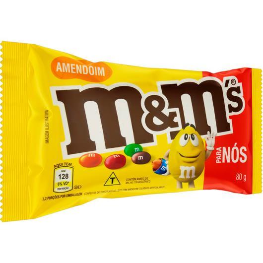 Confeito M&M's ovinhos de amendoim 80g - Imagem em destaque