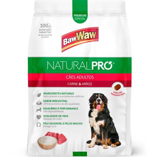 Alimento para cães adultos Baw Waw Natural Pró carne e arroz 2,5kg - Imagem em destaque