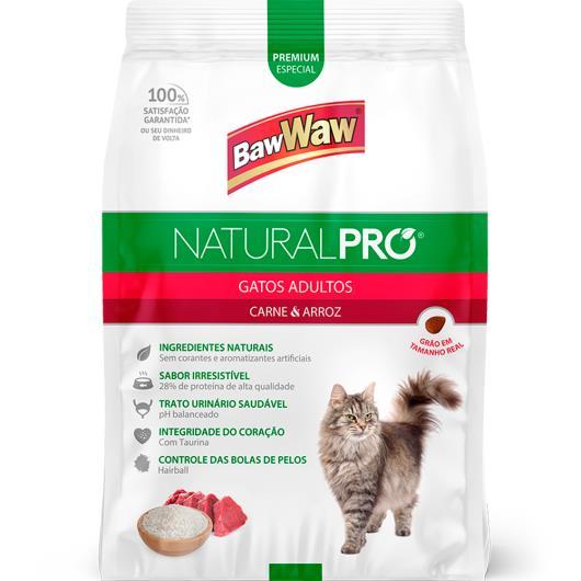 Alimento para gatos adultos Baw Waw Natural Pró carne e arroz 2,5kg - Imagem em destaque