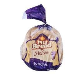 Pão sírio integral Pita Bread com 6 unidades 320g