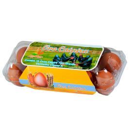 Ovos Caipira Label Rouge vermelhos tipo grande com 10 unidades