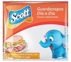 Guardanapo Scott dia-a-dia 30x30 com 50 unidades