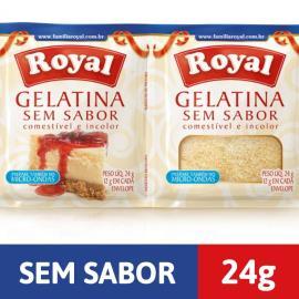 Gelatina em pó ROYAL Sem Sabor 24g
