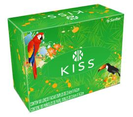 Lenço de papel facial Kiss com 100 unidades