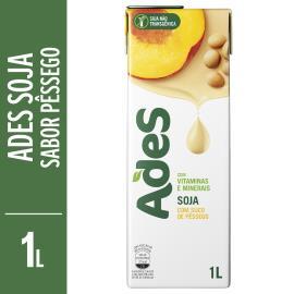 Bebida de soja Ades sabor pêssego 1L