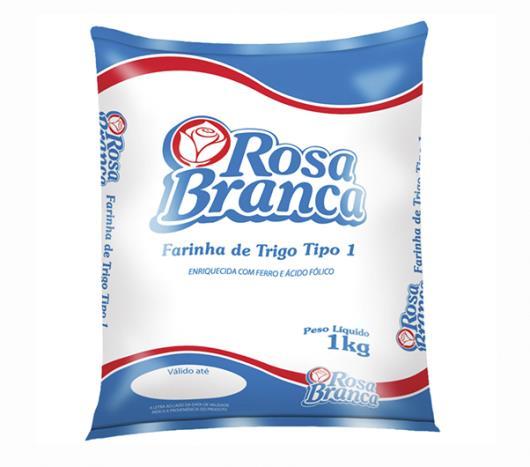 Farinha de trigo com ferro Rosa Branca 1kg - Imagem em destaque