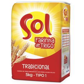 Farinha de trigo Sol Tipo 1 1kg