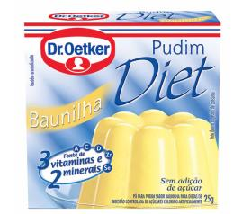 Mistura em pó para pudim Oetker sabor baunilha diet 25g