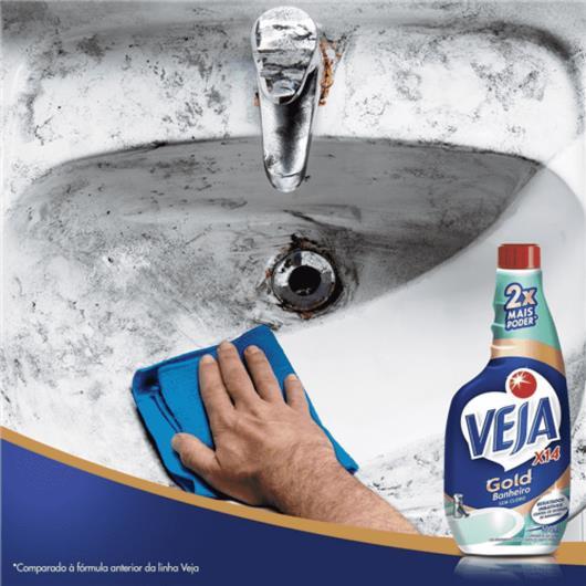 Limpador Veja X-14 Sem Cloro Banheiro Refil 500ml - Imagem em destaque
